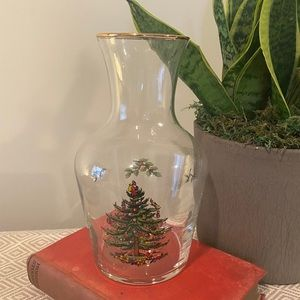 Spode Christmas Tree Glass Carafe